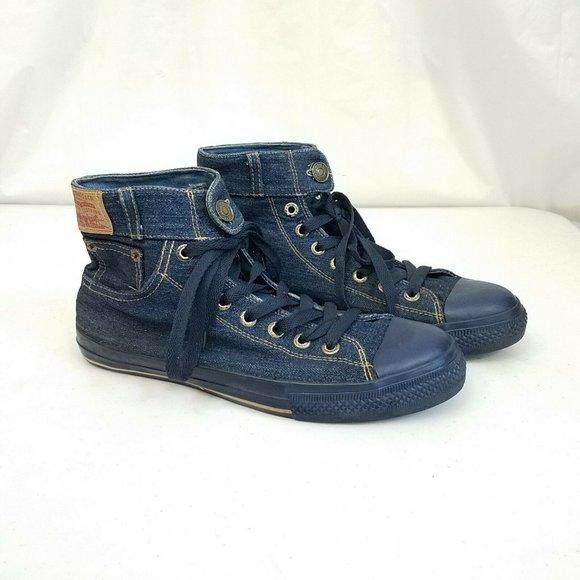 Men's Levi's Denim High Top Sneakers Size 11